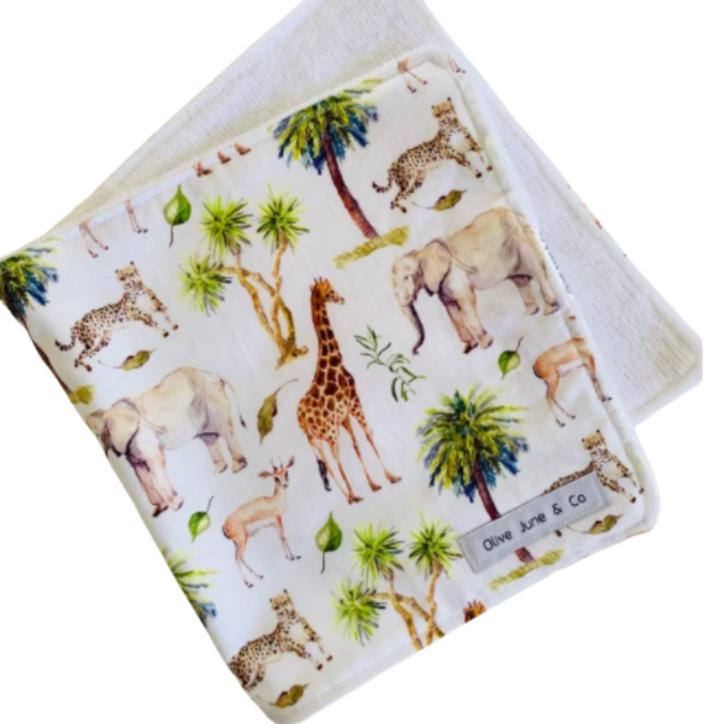 Olive June and Co - Handmade Burp Cloth | Wild Africa