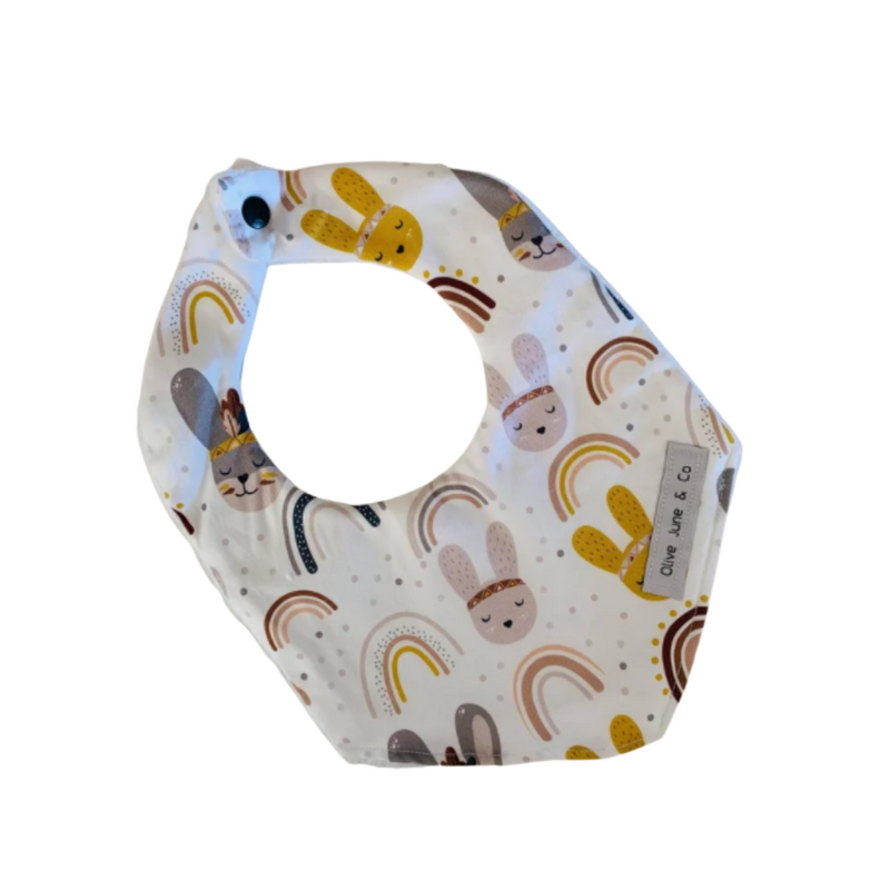 Olive June and Co - Handmade Bandana Bib | Retro Bunny