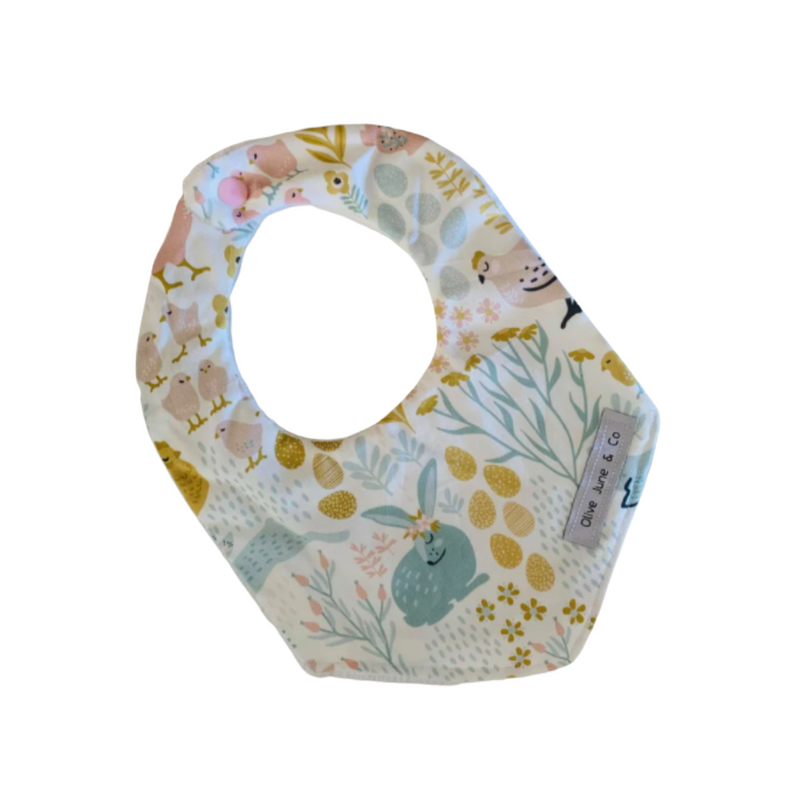 Olive June and Co - Handmade Bandana Bib | Bunny and Eggs