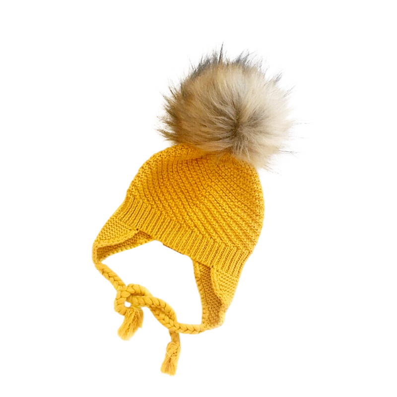 My Tiny Wardrobe - Knit Beanie | Mustard