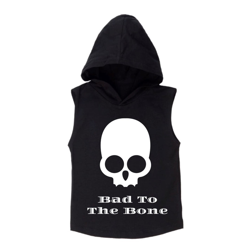 MLW By Design - Bad To The Bone Sleeveless Hoodie | White or Black