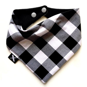 MISSAMADEIT - Black Checkers Bandana Bib