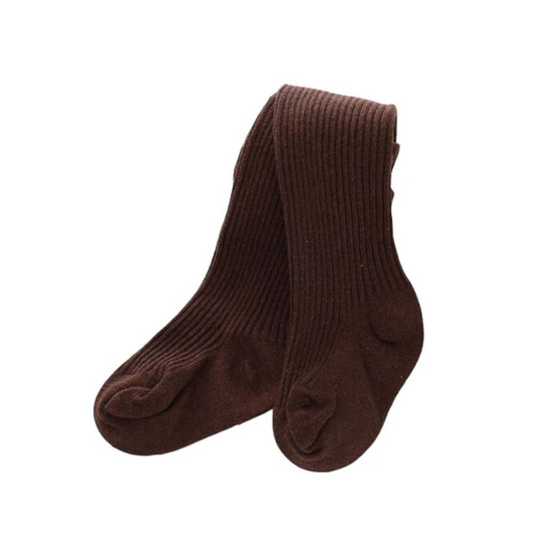 Ribbed Winter Stockings | Brown