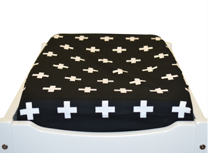 Bambella Designs - Change Table Mat Cover | Cross Black