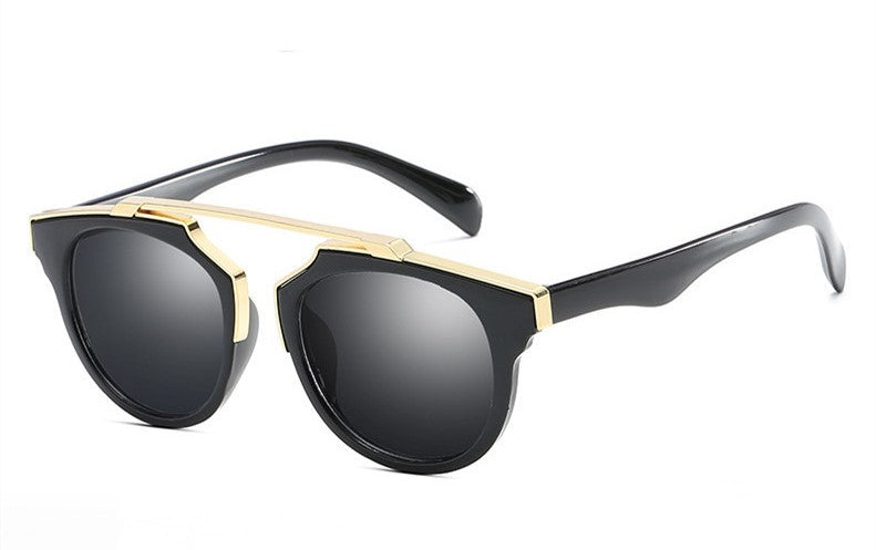 Black & Gold Frame Sunnies