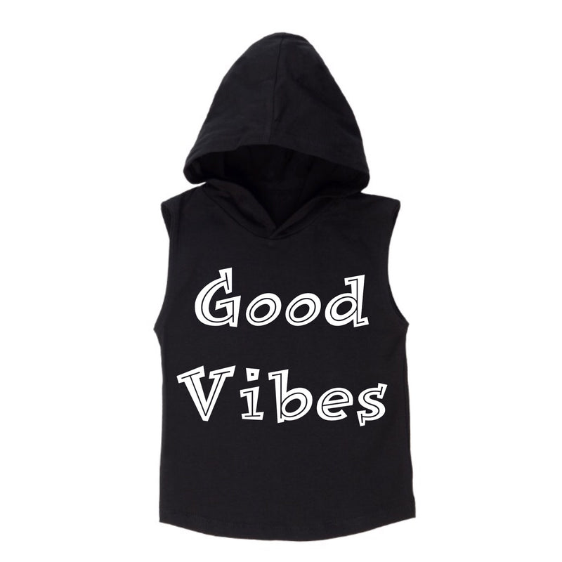 MLW By Design - Good Vibes Sleeveless Hoodie | White or Black