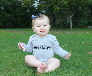 MLW by Design - #HANGRY Bodysuit - Grey Marle