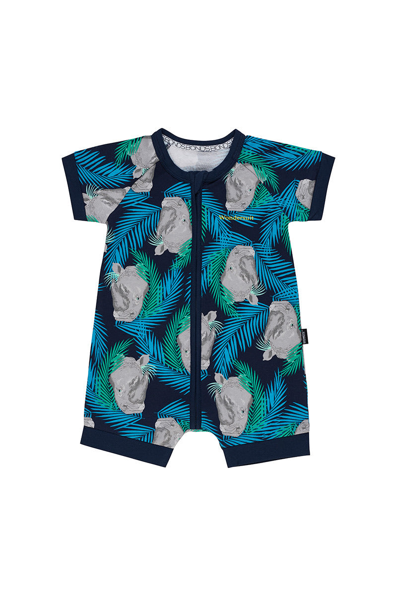 BONDS - Rodney Rhino Romper Zip Wondersuit