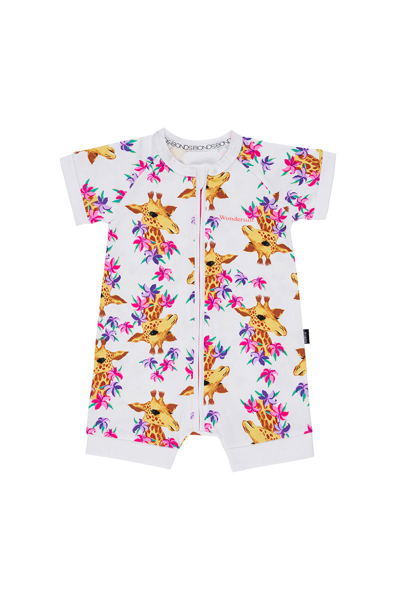 BONDS - Gigi Giraffe Romper Zip Wondersuit