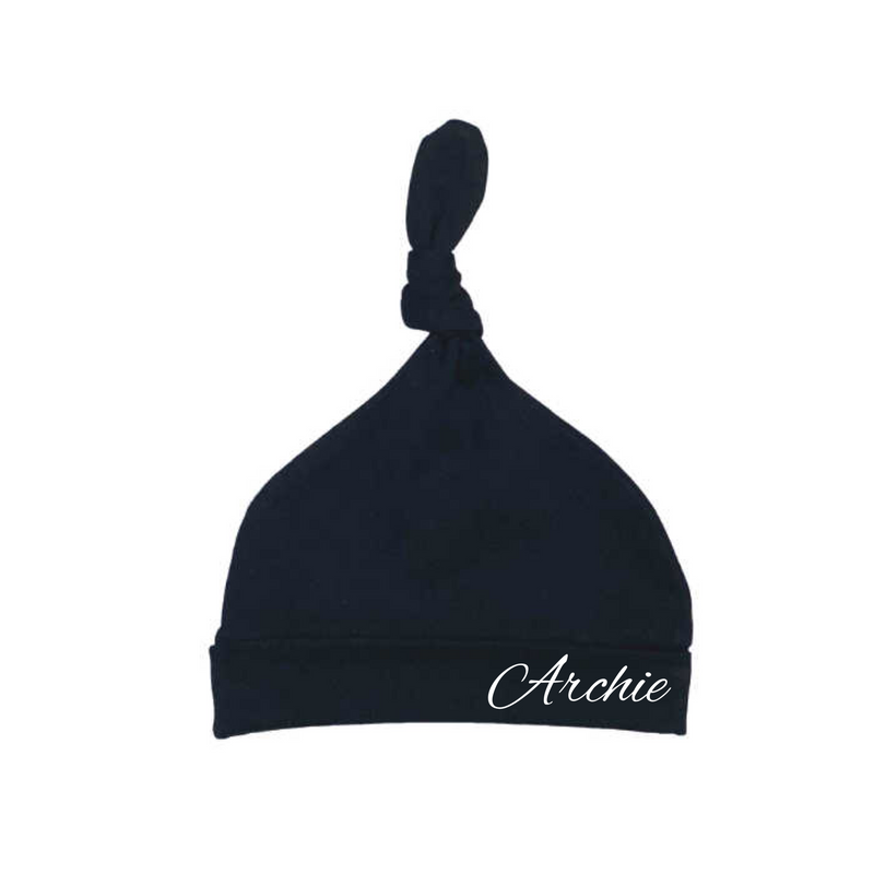 MLW by Design - Personalised Knotted Beanie | Black