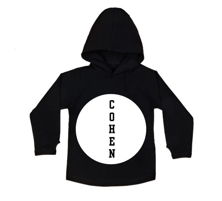 MLW By Design - Personalised Circle Name Hoodie | Black or White