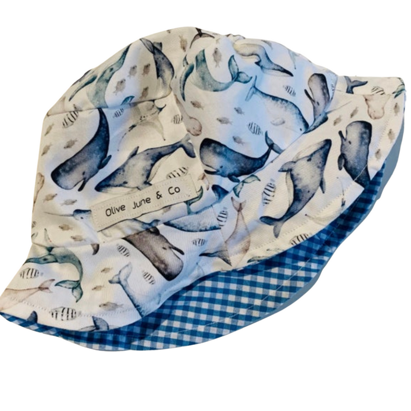 Olive June and Co - Boys Sun Bucket Reversible Hat | Under The Sea