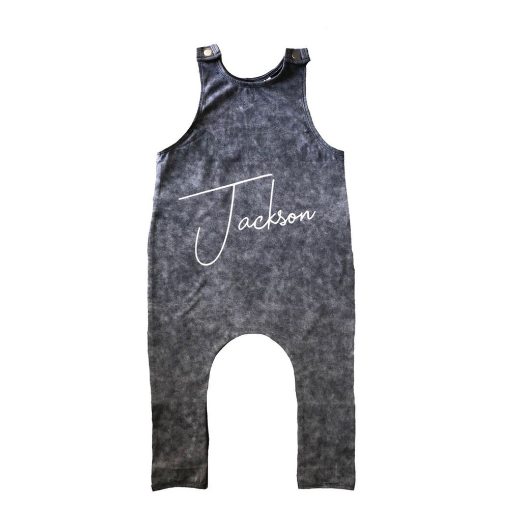 MLW By Design - Personalised Stonewash Slouch Romper *Limited Edition*
