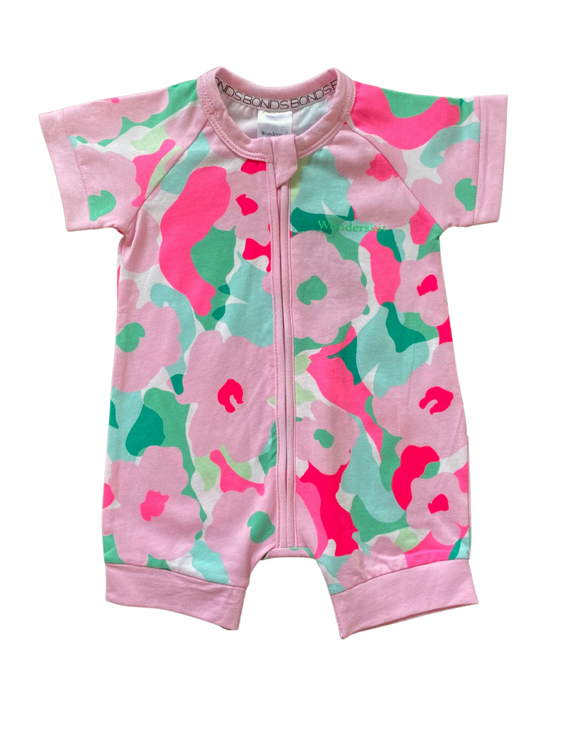 BONDS - Pink Camo Flowers Summer Wondersuit