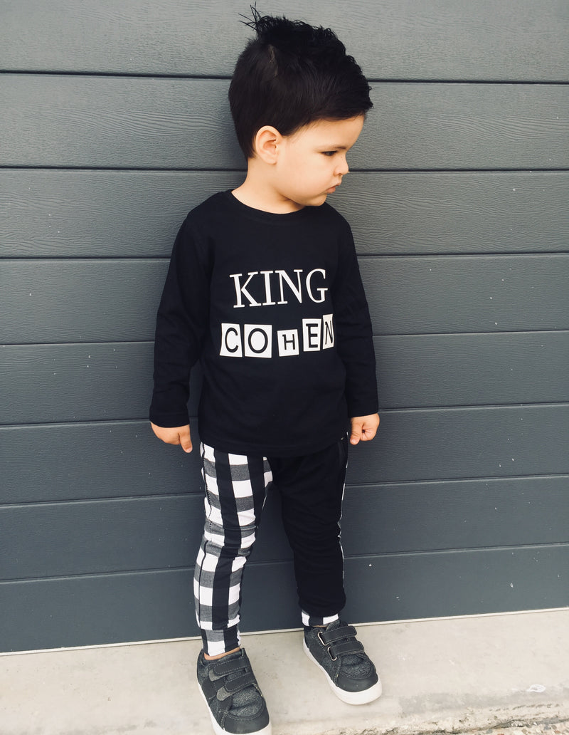 MLW By Design - Personalised King Long Sleeve Tee