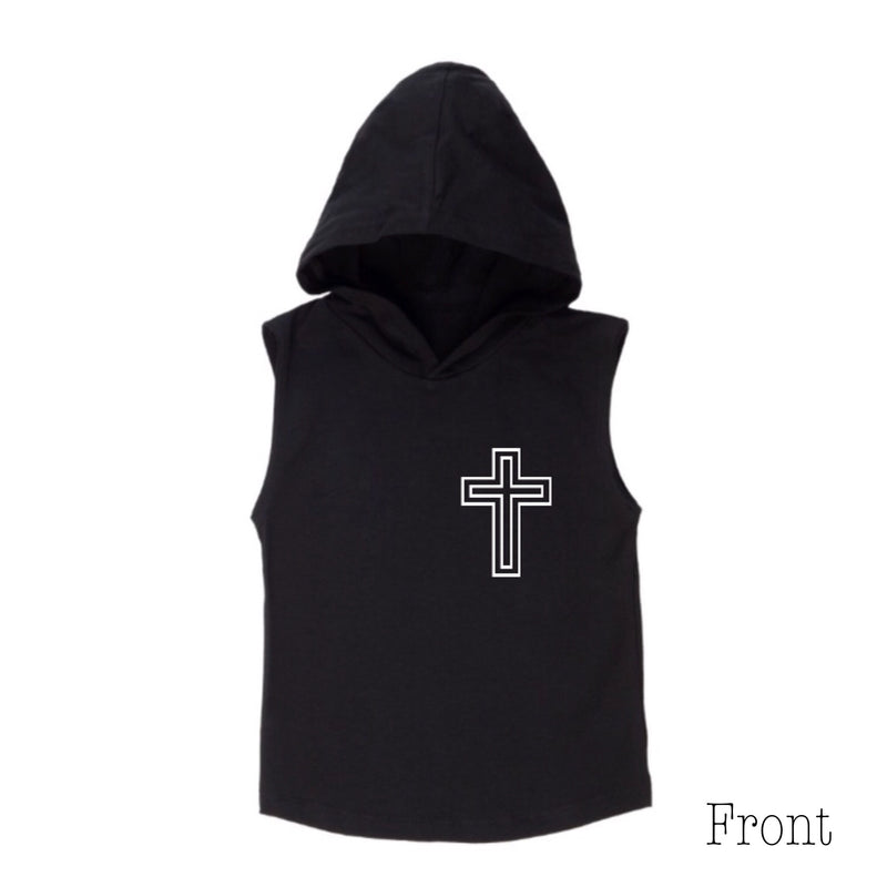 MLW By Design - Respect Sleeveless Hoodie | White or Black
