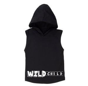 MLW By Design - Wild Child Sleeveless Hoodie | White or Black