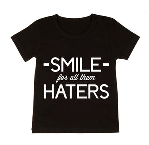 MLW By Design - Smile For All The Haters Tee | Black or White