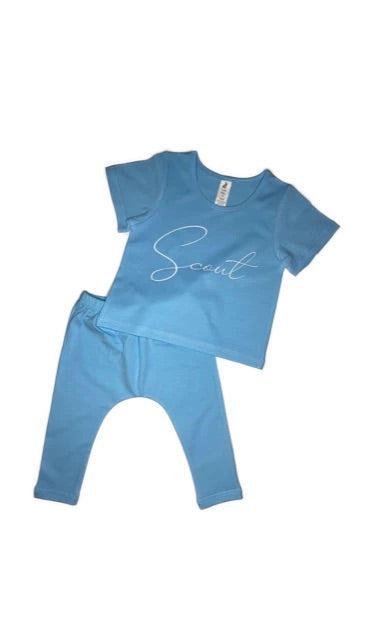 Little Wolfie - Personalised Summer Set | Blue