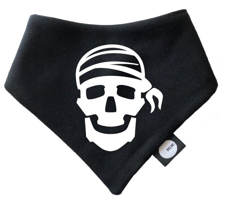 MLW By Design - Pirate Skull Bandana Bib