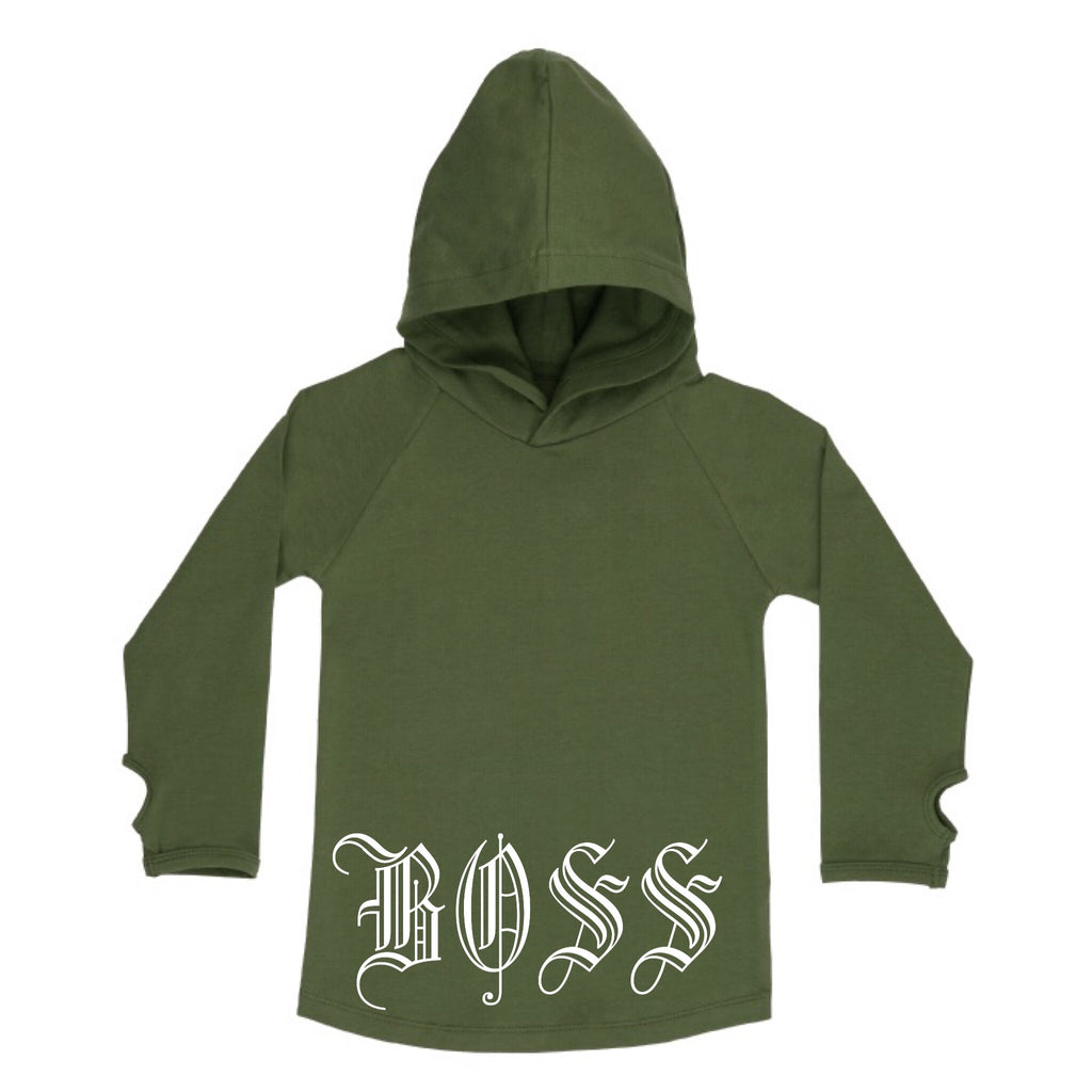 MLW By Design - Khaki Boss Hoodie