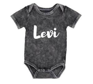 MLW by Design - Personalised Name Stonewashed Bodysuit