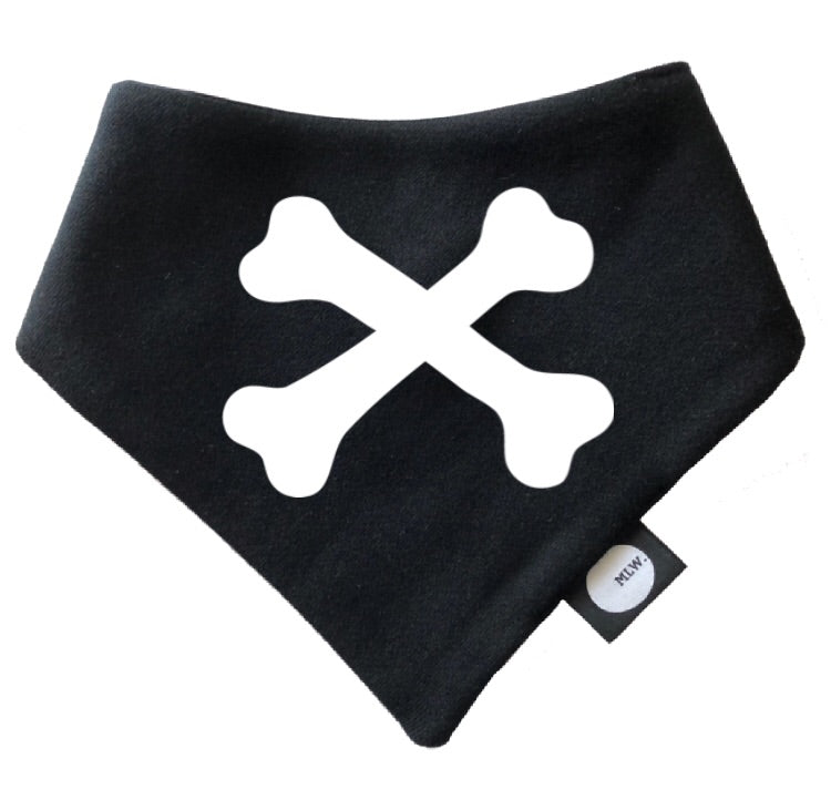 MLW By Design - Cross Bones Bandana Bib