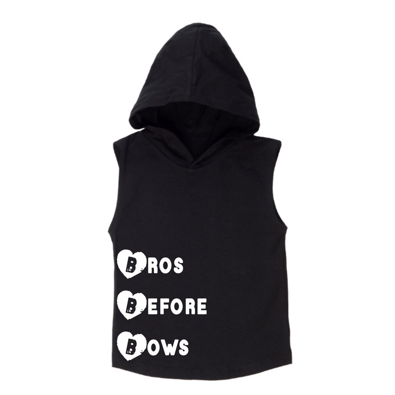 MLW By Design - B.B.B Sleeveless Hoodie | White Or Black