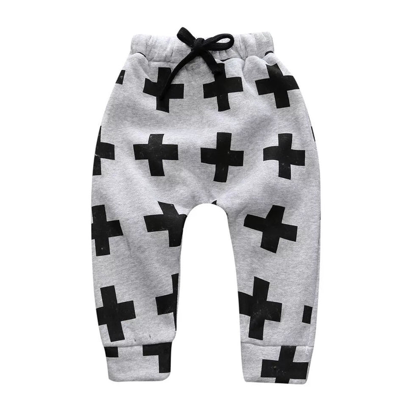 Criss Cross Drop Crotch Pants | Grey