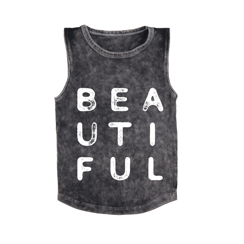 MLW By Design - Beautiful Stonewash Tank