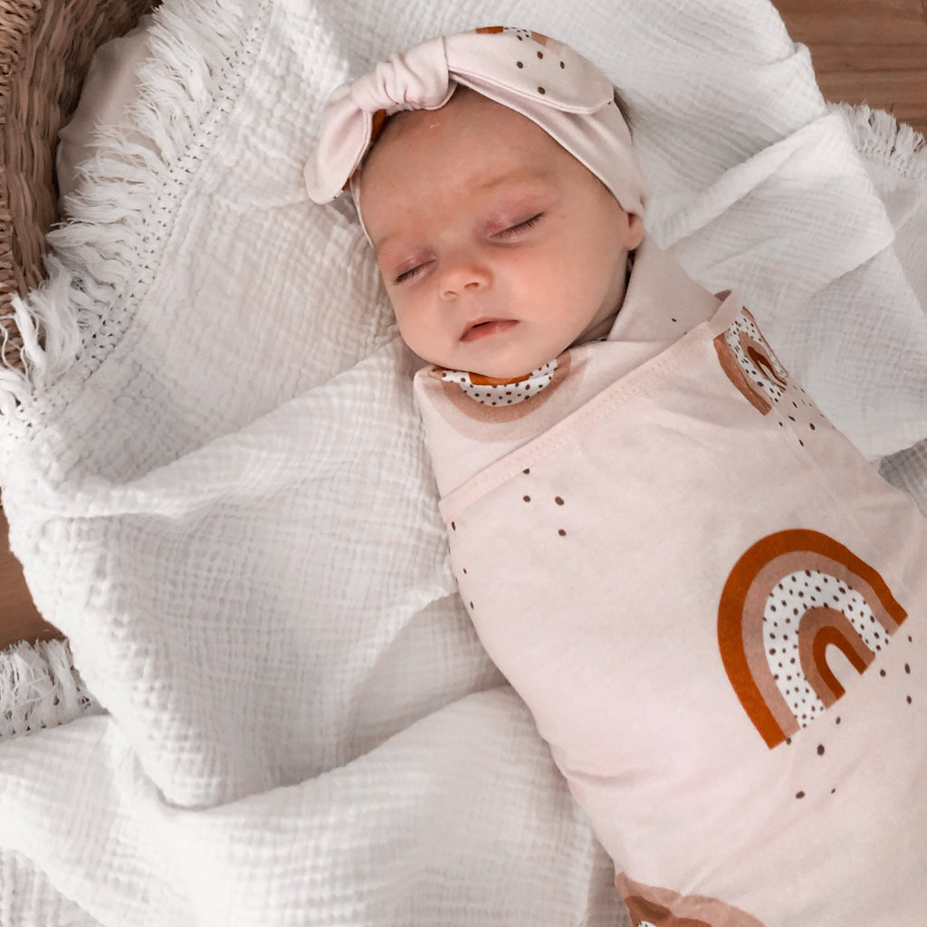 CMC GOLD - Blush Earthy Rainbow Swaddle Set
