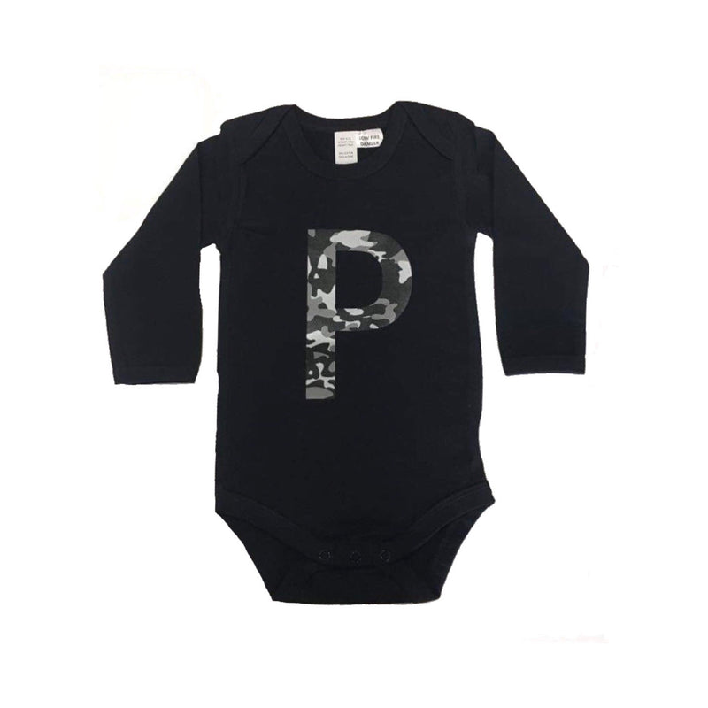 MLW by Design - Camo Initial Bodysuit | Black