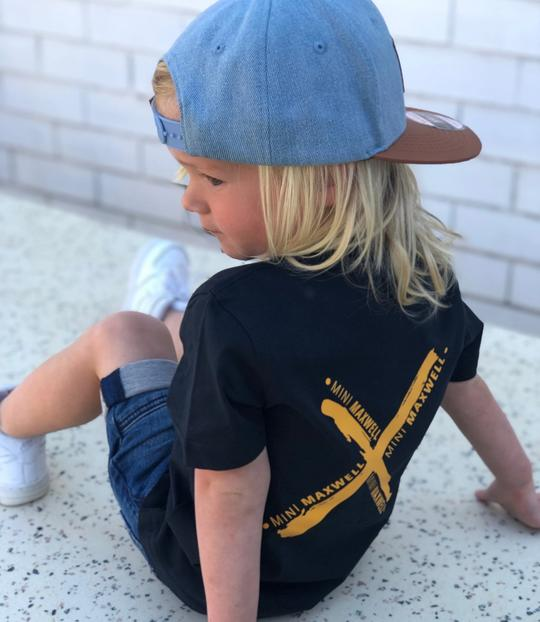 Mini Maxwell - Navy X Tee