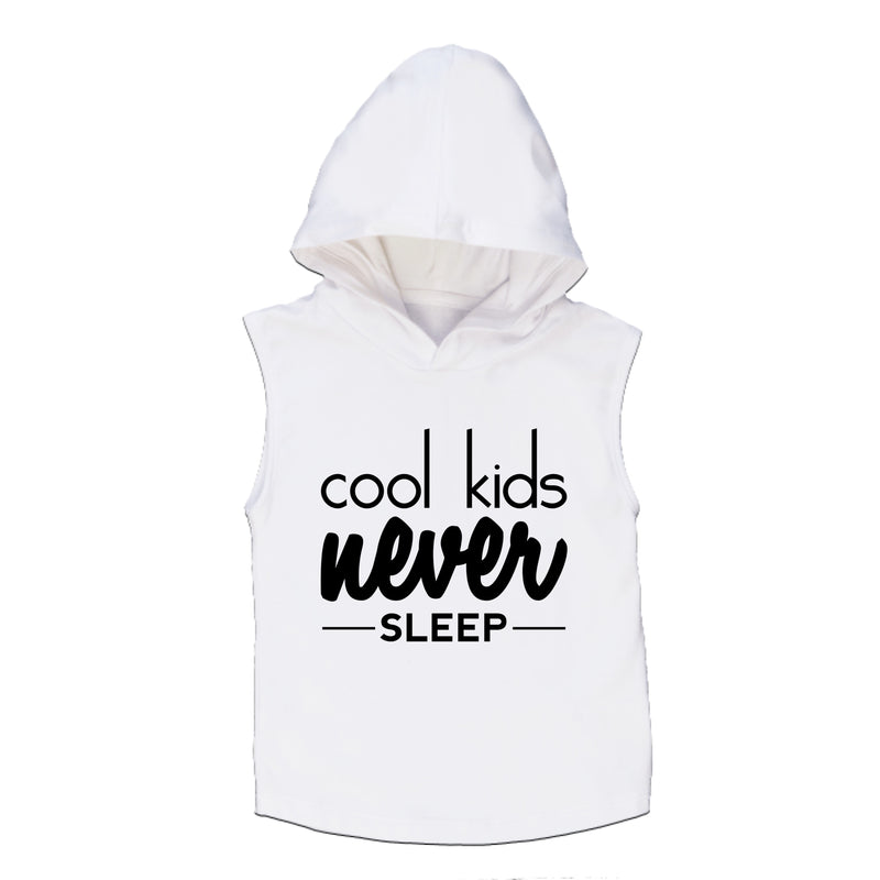 MLW By Design - Cool Kids Sleeveless Hoodie | White or Black
