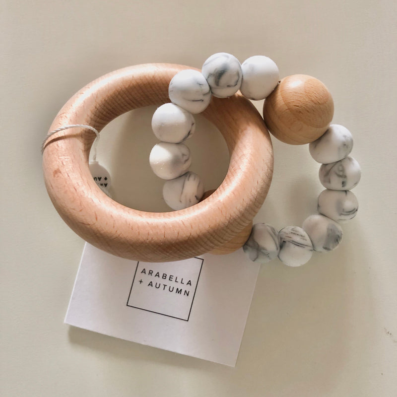 Arabella+Autumn - Saturn Teether | Marble
