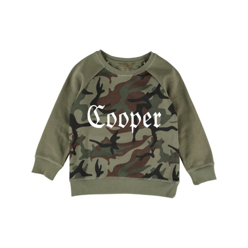MLW By Design - Camo Personalised Sweater