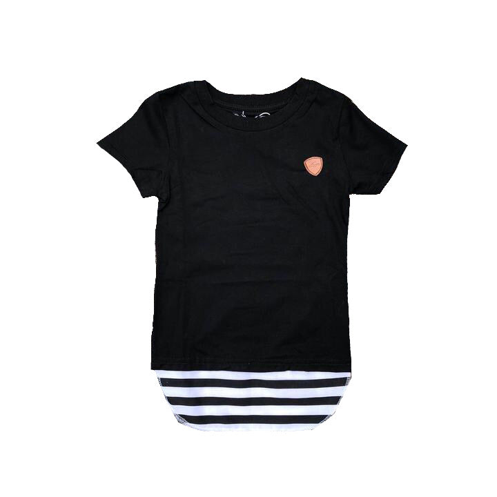 Carrington Kids - Stripe Tall Tee Black - CLEARANCE