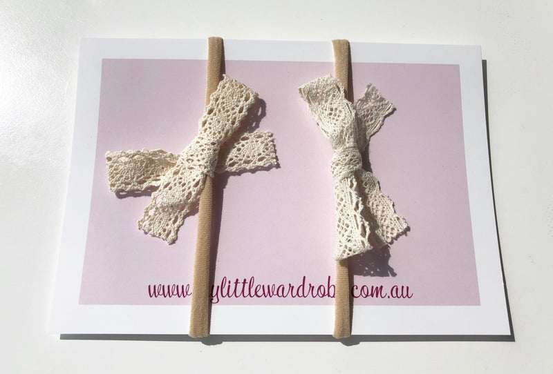 Crochet Bows | Pack of 2