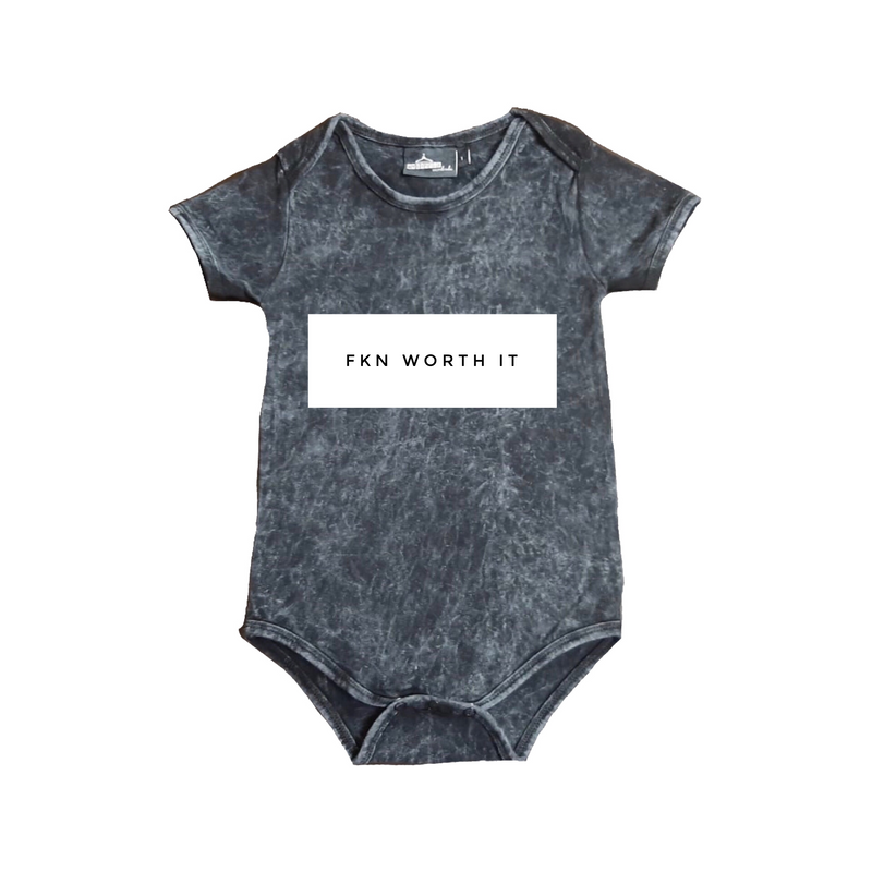 MLW By Design - FKN Worth It Stonewash Bodysuit