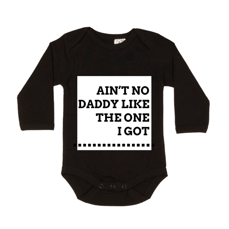 MLW By Design - Ain't No Daddy Black LS Bodysuit | White or Pink Print
