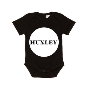 MLW By Design - Personalised Circle Name Bodysuit | Various Colours