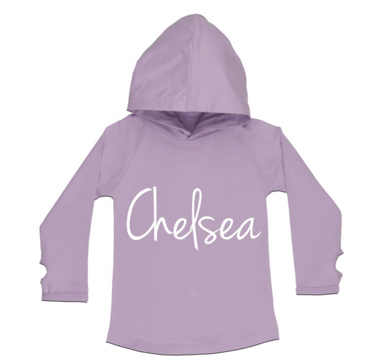 MLW By Design - Personalised Name Lilac Hoodie