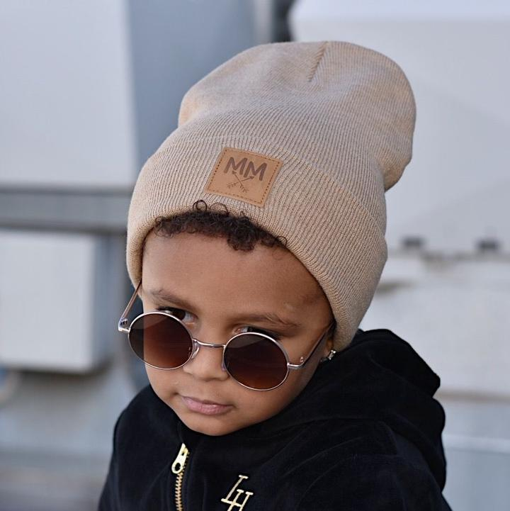 Mini Maxwell - MM Knit Beanie Beige
