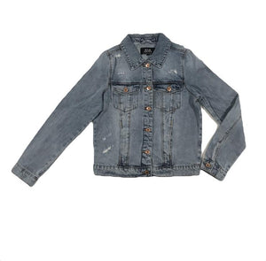 Ballerinas and Boys - Women's Classic Denim Jacket - Mid Blue Wash