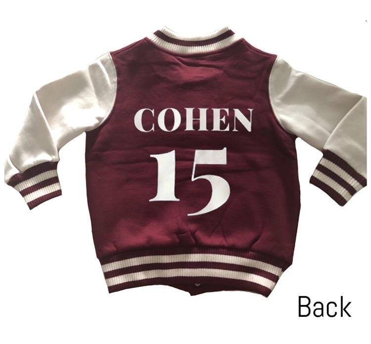 MLW By Design - Personalised Varsity Jacket | Burgundy & White *LIMITED EDITION*