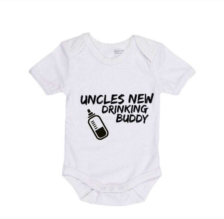 MLW By Design - Uncles New Drinking Buddy Short Sleeve Bodysuit