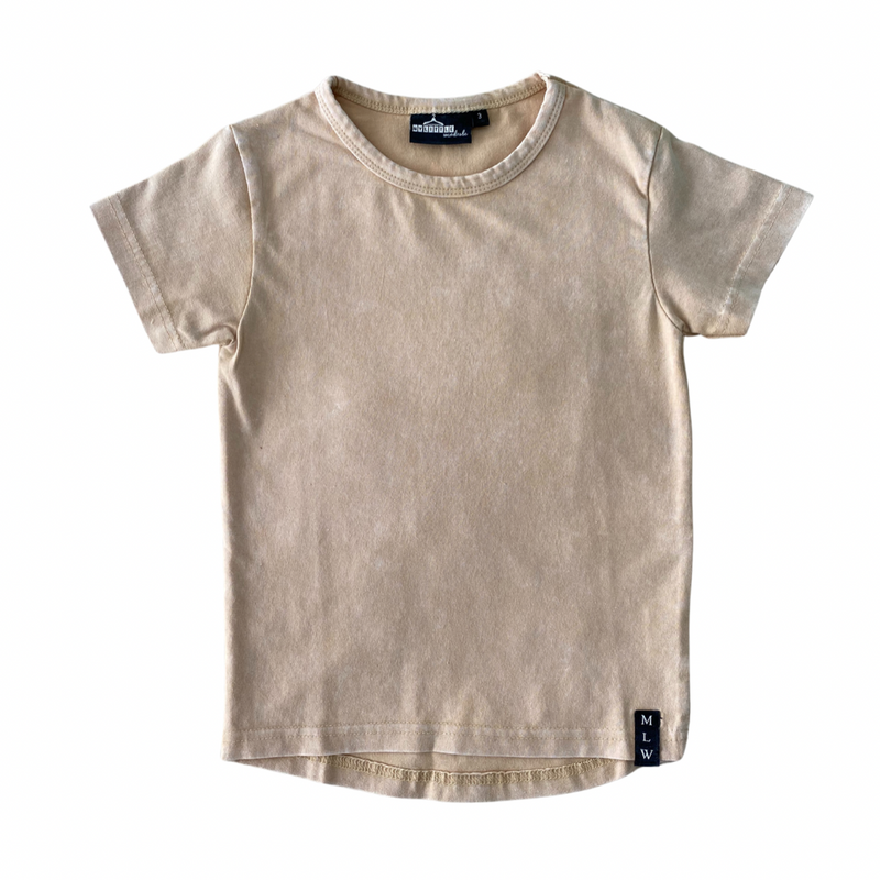 MLW By Design - Basic Stonewash Tee | Sand