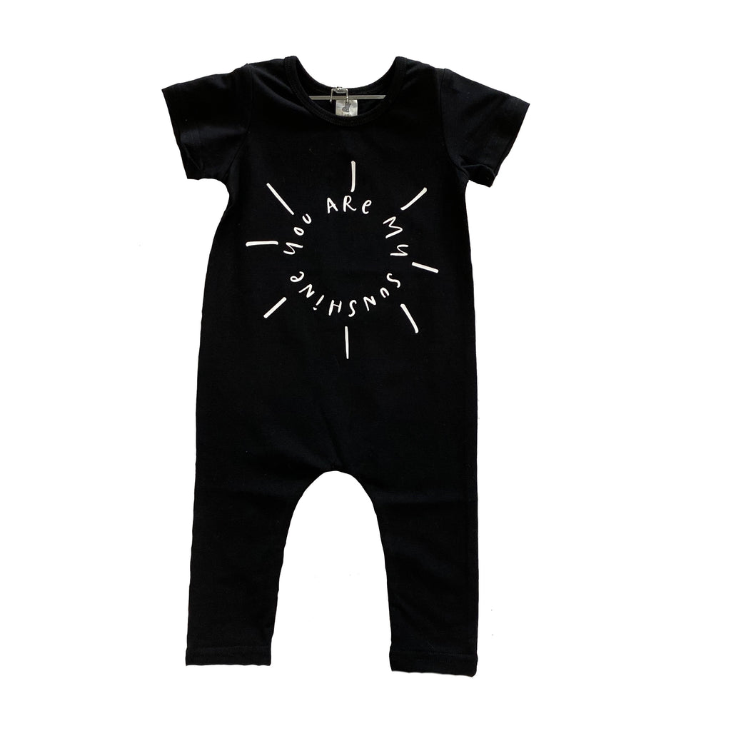 Little Wolfie - Black Sunshine Romper