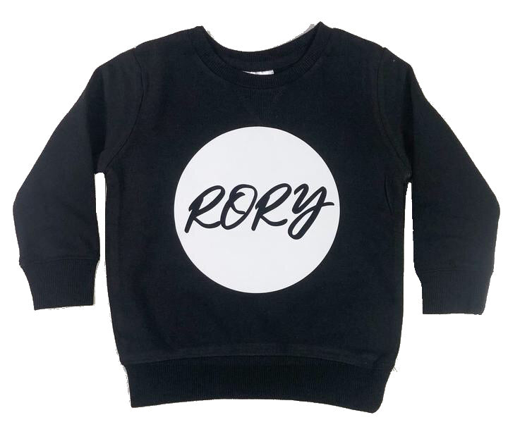 Little Wolfie - Personalised Crew Jumper | Circle Print