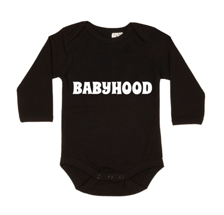 MLW By Design - BABYHOOD Bodysuit | White or Black